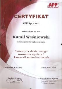 certyfikat PDR 02