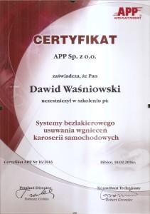 certyfikat PDR 01