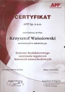 certyfikat PDR 03