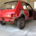 lakierowanie samochodu peugeot 205 02